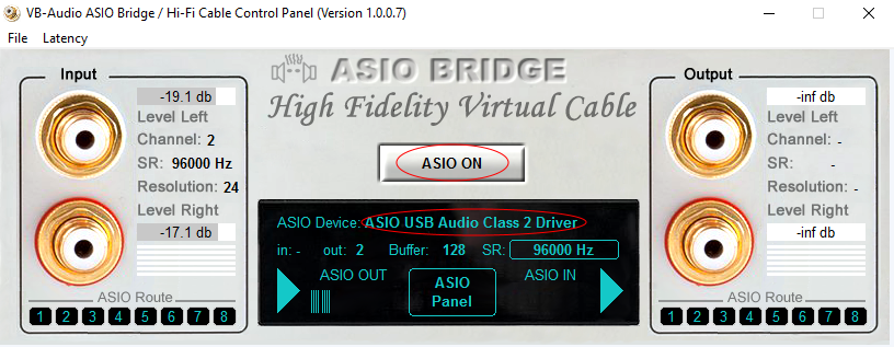 ASIO Bridge ASIO ON USB Audio Class 2